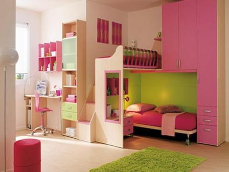 Feng shui warna cat tembok pink untuk kamar tidur anak