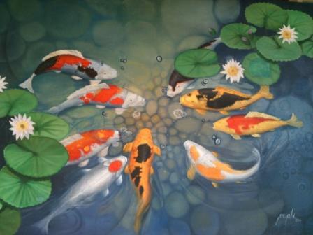 Feng Shui lukisan di tempat tidur