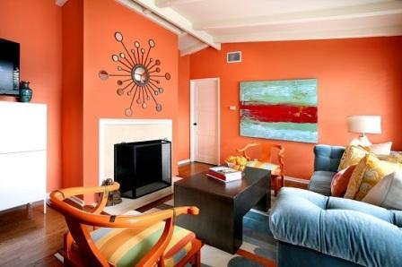 Kombinasi warna cat ruang tamu