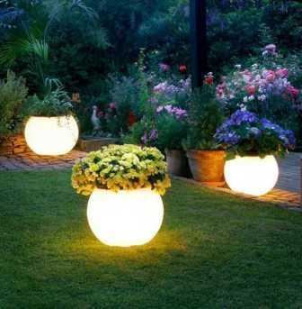 lampu hias halaman depan rumah minimalis