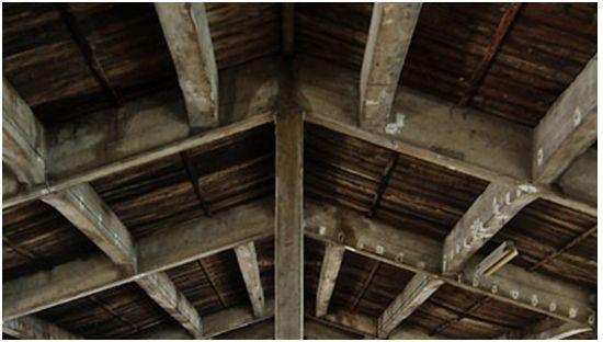 kerangka atap beton