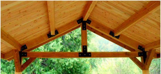 kerangka atap kayu
