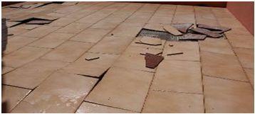 mengapa lantai keramik menggelembung