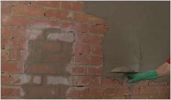 cara plester dinding