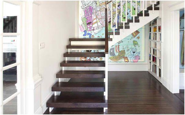 tangga berbelok arah